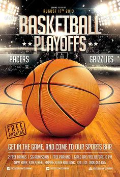 BasketBall Game Flyer Template - Flyer Templates - Best Free and Premium Flyer Templates at FFFlyer.com Flyer Design Showcase