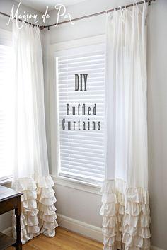 Ruffled Curtains - Maison de Pax