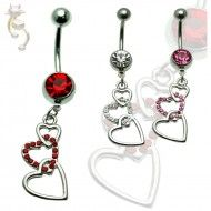 Wholesale Body Jewelry Triple Heart Body Jewelry N208 Product Code: N208 Dangle Belly Rings, Belly Button Rings, Wholesale Body Jewelry, Dangles, Jewels, Hearts, Steel, Jewelry, Gemstones