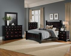 Treasure Trove. Bearing gorgeous design elements from top to bottom, the Winchester collection gives your bedroom a defined style all its own. The classic black wood finish is made captivating with a strong hand of burnished merlot coloring throughout. Apothecary-inspired case goods showcase a bevy of drawer fronts, while offering plenty of functional storage space. Accented with beaded trim, polished chrome knobs bring a hint of femininity to the highly versatile look.