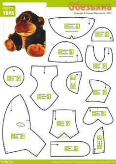 Обезьяна-1, Handmade Monkey Cuddly Toy,  How to Make a Toy Animal Plushie Tutorial Plushies Tutorial , Animal Plushies, Softies & Furries Arts and Crafts, Diy Projects, Sewing Template , animals, plush, soft, toy, pattern, template, sewing, diy , crafts, kawaii, cute, sew, pattern, critter, monkey, ape, gorilla