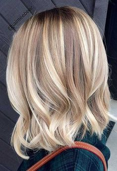 Hair Inspiration_Buttery Blonde Lob – Serrano Days by Wilkens IFB – Hair Red Buttery Blonde, Hair Color Balayage, Balayage Highlights, Caramel Balayage, Balayage Hair Blonde Medium, Medium Blonde Hairstyles, Blonde Hair Cuts Medium, Ash Blonde, Ladies Hairstyles