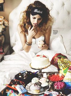 Love this picture, courtesy of Cosmo. It was something about periods. NEED THAT EYE MASK!!