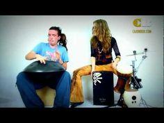 ▶ Cajon box & Hang drum - YouTube