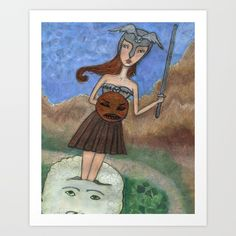 Birth of Athena. Collect your choice of gallery quality Giclée, or fine art prints custom trimmed by hand in a variety of sizes with a white border for framing.