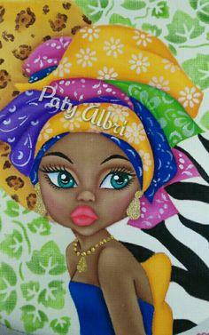 Black Girl Art, Black Women Art, Art Girl, African American Girl, African Girl, Drawings Of Black Girls, Afrique Art, African Art Paintings, Black Artwork