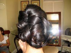 Mrs Hot Wings Hair Trial - Bridal Updo #Kacee Geoffroy