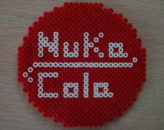 Nuka Cola Sign Perler by SuperSensei