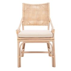 Lowest price on Safavieh Donatella Natural White Wash Rattan Chair Shop today! Rattan Dining Chairs, Living Room Chairs, Dining Room, Kitchen Chairs, Dining Tables, Furniture Chairs, Striped Dining Chairs, Mary's Kitchen, Rattan Armchair