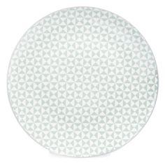 Assiette plate en porcelaine vert d'eau D 27 cm GÉOMÉTRIK