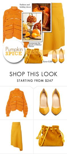 """""""Pumpkin Spice!"""" by sara-cdth ❤ liked on Polyvore featuring Isabel Marant, Christian Louboutin, TIBI and Clare V."""