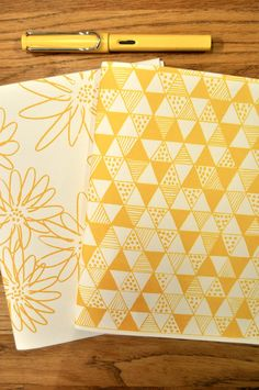 screen printed notebooks...