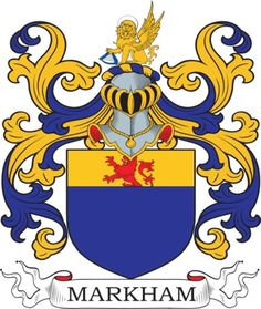 Markham Family Crest and Coat of Arms