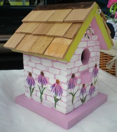 Decorated craft small bird houses - Google Search