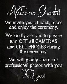Wedding signs unplugged no cell phones Ideas Wedding 2015, Wedding Images, Wedding Themes, Diy Wedding, Fall Wedding, Wedding Events, Wedding Favors, Wedding Ideas, Wedding Stuff