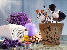 Beauty and the Beast Glitter Makeup Jar, GlitterMakeup Brush Holder, Makeup Storage Organizer, Bathroom Vanity Jar, Jewelry Catchall by Cre8tiveDeZinez on Etsy