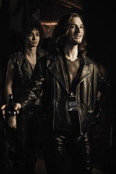 Ben Barnes and Robbie Sheehan in Killing Bono, 2011. I love Ben's leather jacket  SIRIUS