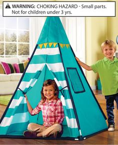 Discovery Kids Little Boys', Boys', Little Girls' and Girls' Toy Tent TeePee