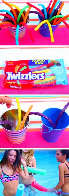 Pool Noodle Candy | DIY Pool Party Ideas for Teens
