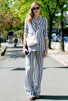 Striped summer suit