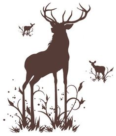 Surface Collective - Oh, Deer Wall Tattoo modern decals