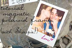 DYI your own magnetic polaroid photo frame