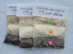 DIY cookie kits in baggies, instead of jars.