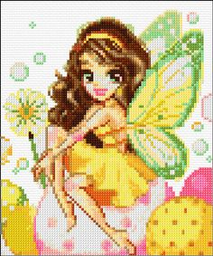 Cross Stitch | Easter Fairy xstitch Chart | Design