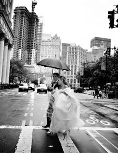 Jamie Rubin and Arnold Kovelman  Married in New York, New York on June    There is no wedding photography more beautiful than when the backdrop of New York City is captured in black & white. This is a stunning photo that certainly this gorgeous couple will treasure. To see and read about their wedding, visit the Grace Ormonde Wedding blog.  www.scenemakers.c...