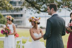 Colourful Sydney wedding   ||   Gown by Karen Willis Holmes || Flowers: The Sisters  (Photo: TheSimple Things Studio)