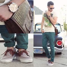 Hot Topic T Shirt, Zara Jeans, Vans Shoes, Ecote Studded Satchel, Diesel Watch, Wild Soul Sunglasses