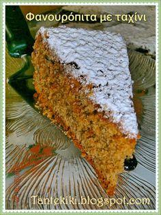 Tante Kiki: Φανουρόπιτα με ταχίνι Greek Sweets, Greek Desserts, Greek Recipes, Greek Cake, Meals Without Meat, Mumbai Street Food, Sweets Cake, My Best Recipe, Food To Make