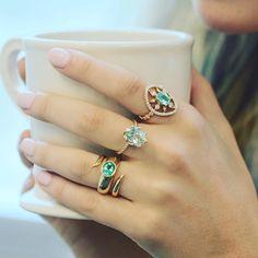 Any night is a perfect night with these #DropDeadGorgeous rings 💙💙💙 #ericacourtney #showmeyourrings #jewelrystateofmind  #lovegold #luxury #luxurybyjck #jewelry #jewelrydesign #jewels #diamond #diamonds #custom #love #stunning #beautiful #color #finejewelry #highendjewels #ringoftheday #dreamring #losangeles #gemstones #blingbling #wow #diamondjewelry #instajewels #diamondsareagirlsbestfriends #wishlist #sparkle