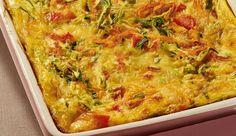 Omelete com tomate, abobrinha, cenoura e MAGGI Meu Segredo, preparada ao forno