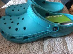 Crocs - Size Mens 10 (UK) - Ladies 11 (UK)  - Aquamarine - New with tags #Crocs