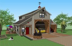 RV Port Home design by Falcon Crest ---Looking into the Falcon Crest RV Port