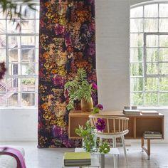 Tarbana Amethyst Fabric | Designers Guild Tricia Guild, Designers Guild, Fabric Wallpaper, Fabric Design, Amethyst, Curtains, Shower, Prints, Beautiful