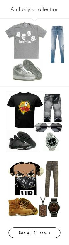 """""""Anthony's collection"""" by exoduss ❤ liked on Polyvore featuring Diesel, men's fashion, menswear, Ray-Ban, Gaudì, John Hardy, Balmain, Movado, West Coast Jewelry and Baldessarini"""