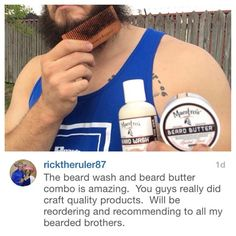 """@ricktheruler87 Welcome Maestro! Thanks for the complimentary feedback and for being Undeniably Good at Spreading the News about how our beard care products are """"amazing"""" We Appreciate You"""