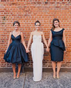 Navy Polka Dot Bridesmaid Dresses