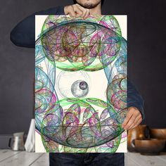 Fractal Art Print  Psychedelic Art  Large Sound Wave Art  #nebula #fractal #maths #psychedelic #energy #maths #kaleidoscope #cosmic #galactic #quantum #spiral