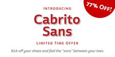 Cabrito Sans™ - Webfont & Desktop font « MyFonts
