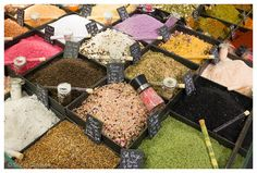 Salts and Spices in French spice market photo by SonjaCaldwell