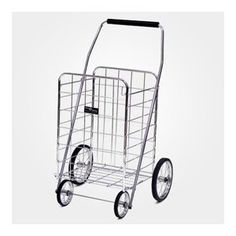 Narita Trading Company Jumbo Shopping Cart in Chrome Exceptional high quality compact foldable shopping cart with solid rubber tires with steel spokes. Kitchen Storage, Food Storage, Easy Storage, Laundry Storage, Folding Shopping Cart, Shopping Carts, Laundry Cart, Tubular Steel, Rubber Tires