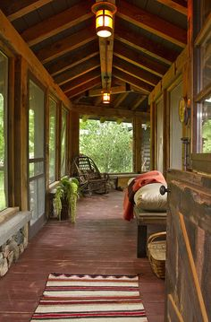 nice porch - This could work if we build two structures on one foundation, under one roof - main house + studio/guest quarters.