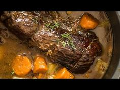Slow Cooker Beef Pot Roast is the ultimate one-pot family meal! Meltingly tender meat, vegetables and potato, smothered in a wickedly delicious gravy. Slow Cooker Roast Beef, Beef Pot Roast, Pot Roast Recipes, Slow Cooker Recipes, Beef Recipes, Cooking Recipes, Cooking Videos, Drink Recipes, Recipes