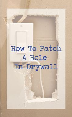 Great tutorial on how to patch a hole in drywall | Redesigned By M