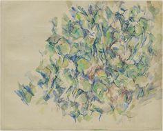 wetreesinart:  Paul Cézanne (Fr. 1839–1906), Étude d'arbres, 1895, aquarelle et crayon sur papier, New York, MoMA