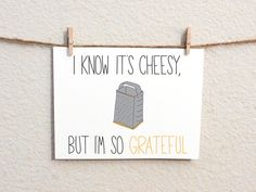 I'm So Grateful 100 Recycled Greeting Card by WanderDesign on Etsy, $3.00