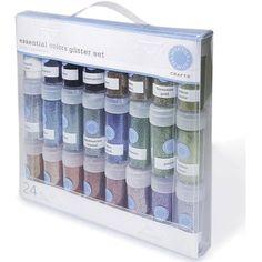 Martha Stewart Essential Colors Glitter (Pack of 24)